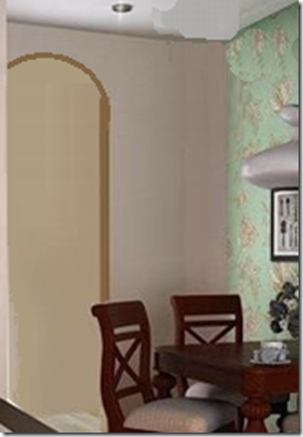 New archway for kitchen entrance