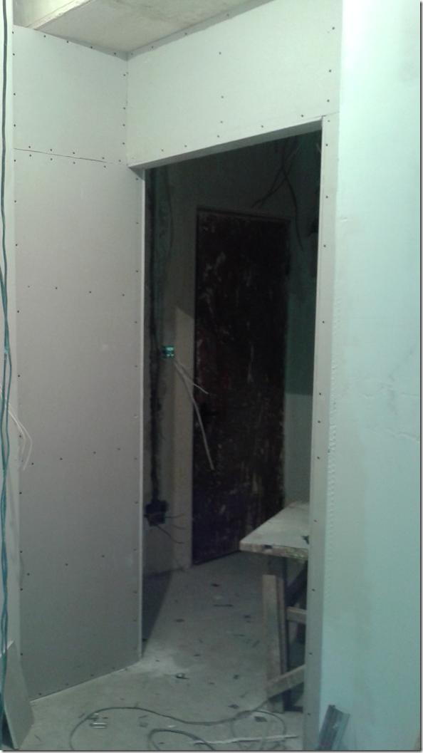 Inner door at entrance