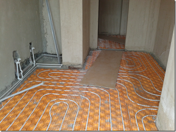 Underfloor Heating in Kitchen & Hallway